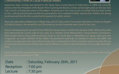 Pacifica Lectures: Dave Cortese