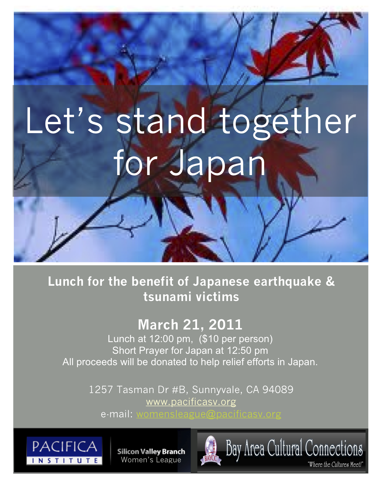 Lunch for Supporting Japanese Victims