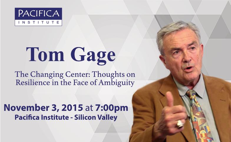 Pacifica Speaker Series: Tom Gage, Nov 3 @ 7pm in Sunnyvale, CA