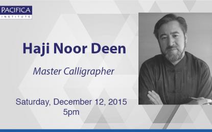 Haji Noor Deen, Master Calligrapher