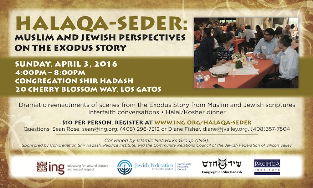Halaqa-Seder: Muslim & Jewish Perspectives on the Exodus Story