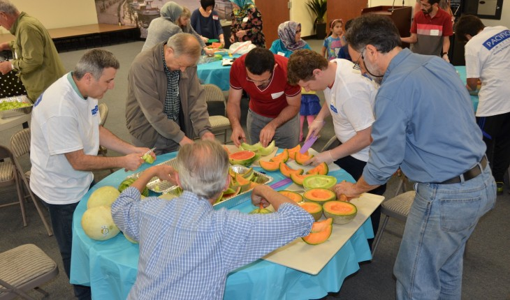 40 Volunteers From Different Backgrounds Working Together to Serve