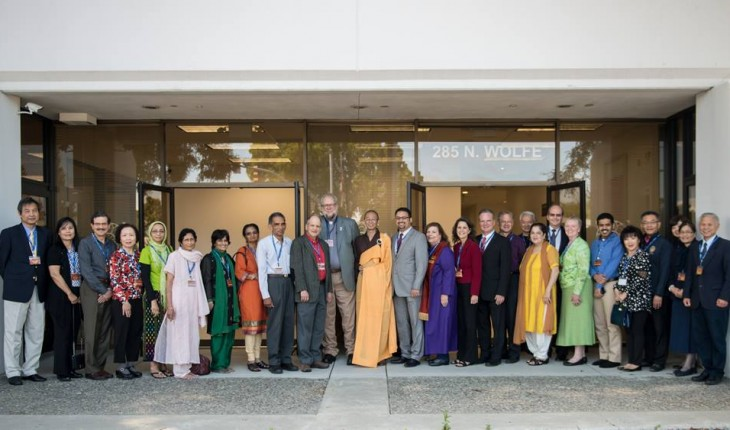 Snapshot from Bathing of the Buddha ceremony at Chung Tai Zen Center in Sunnyvale