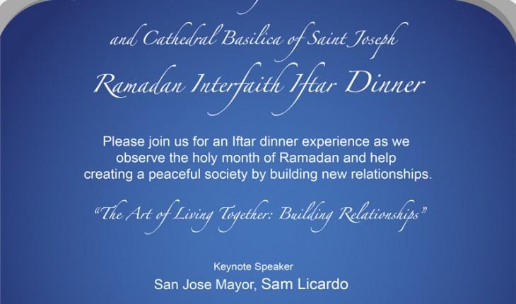 Ramadan Iftar Dinner with San Jose Mayor Sam Licardo – 7:15PM on June 15 – Sunnyvale