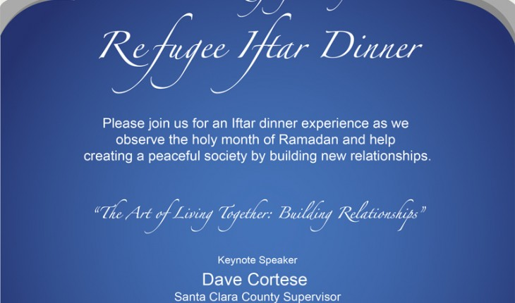 Ramadan Iftar Dinner with Dave Cortese – 7:15PM on June 20 – Sunnyvale