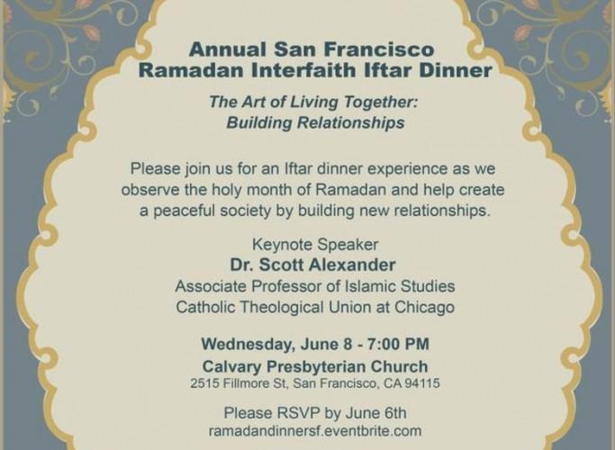 Annual San Francisco Ramadan Interfaith Iftar Dinner