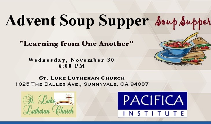 Advent Soup Supper – Learning from One Another