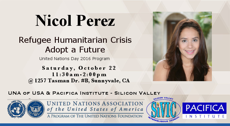 Luncheon with Nicol Perez: Refugee Humanitarian Crisis / Adopt a Future