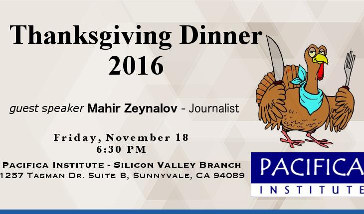 2016 Thanksgiving Dinner – Silicon Valley Branch