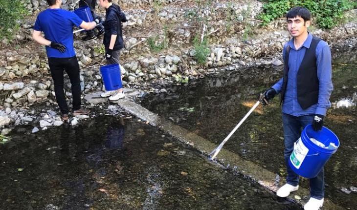 River Cleaning – Saratoga Creek in Santa Clara, CA