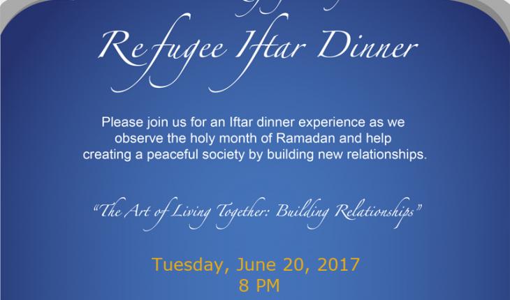 Interfaith Community Iftar Dinner for World Refugee Day