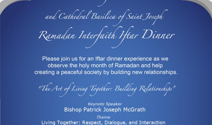 Pacifica Institute & Cathedral Basilica of Saint Joseph Iftar Dinner – June 8