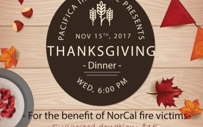 Early Thanksgiving Dinner 2017 for the benefit of NorCal fire victims