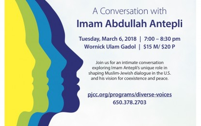 Diverse Voices at PJCC: A Conversation with Imam Abdullah Antepli on March 6