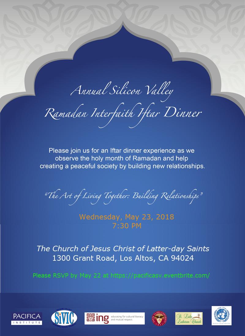 Ramadan Interfaith Iftar Dinner at Church of Jesus Christ of Latter-day Saints in Los Altos, CA