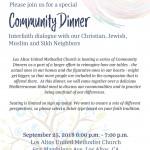 Community Dinner at Los Altos United Methodist Church