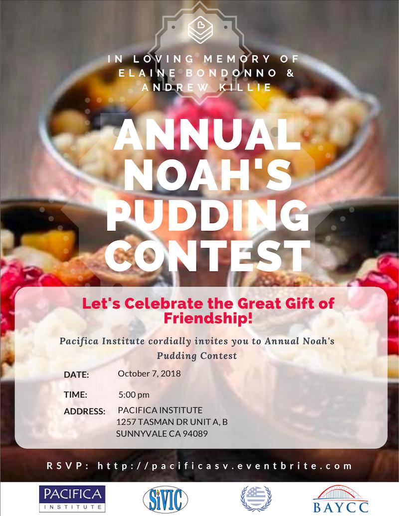 Annual Noah's Pudding Contest