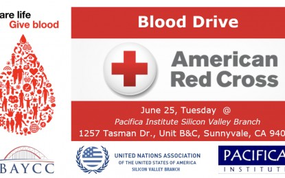 Blood Drive – American Red Cross – Sunnyvale, CA – June 25, 2019