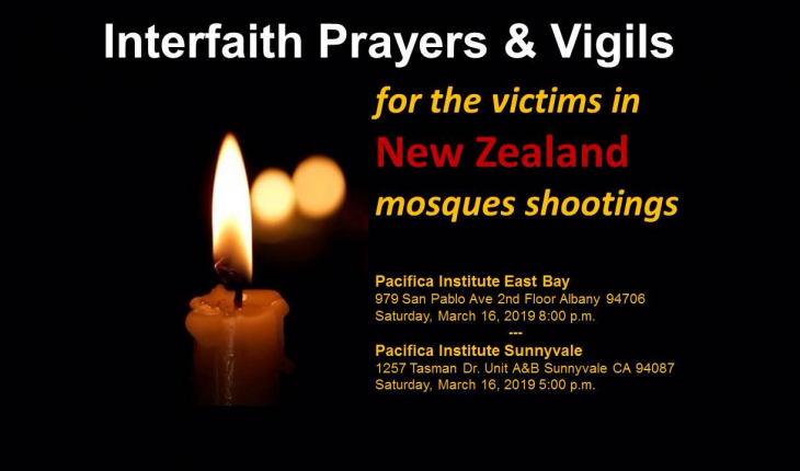 Interfaith Prayers & Vigils for victims of New Zealand mosques shooting