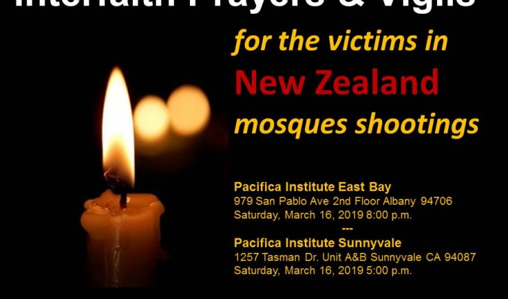 Interfaith Prayers and Vigils for Victims in New Zealand Mosques Shootings