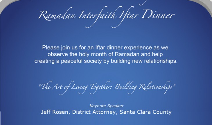 Ramadan Interfaith Iftar Dinner at Pacifica Institute Silicon Valley