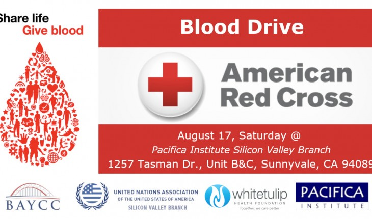 Blood Drive – American Red Cross – Sunnyvale, CA – August 17, 2019