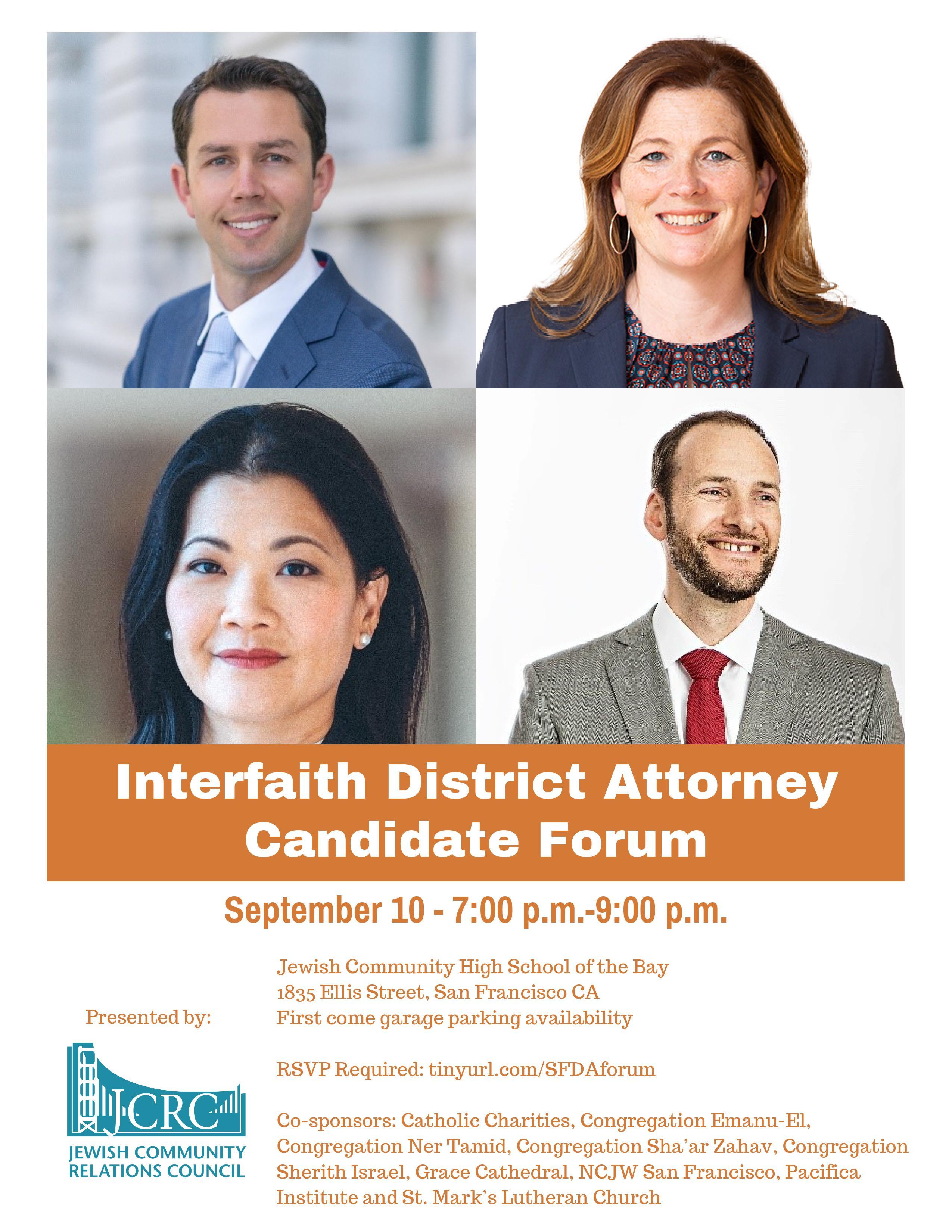 Interfaith District Attorney Candidate Forum