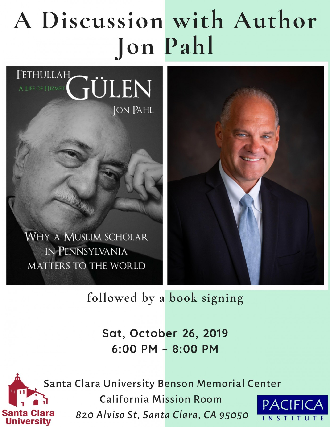 "Book Signing and Discussion with Dr. Jon Pahl featuring the book ""Gulen: A Life of Hizmet"""