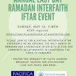Annual East Bay Ramadan Interfaith Iftar Event