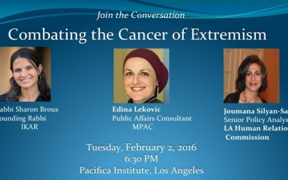 "Panel: ""Combating the Cancer of Extremism"" at Pacifica Institute, Los Angeles"