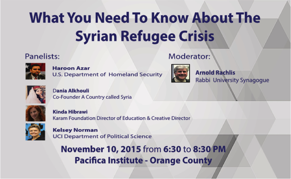 Panel: What You Need to Know About the Syrian Refugee Crisis