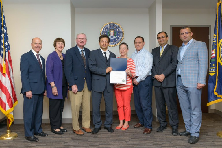 FBI San Diego Presents 2016 FBI Director's Community Leadership Award to Pacifica Institute