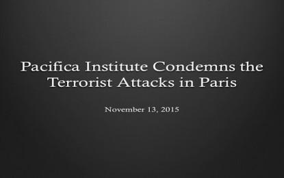 Pacifica Institute Condemns the Terrorist Attacks in Paris