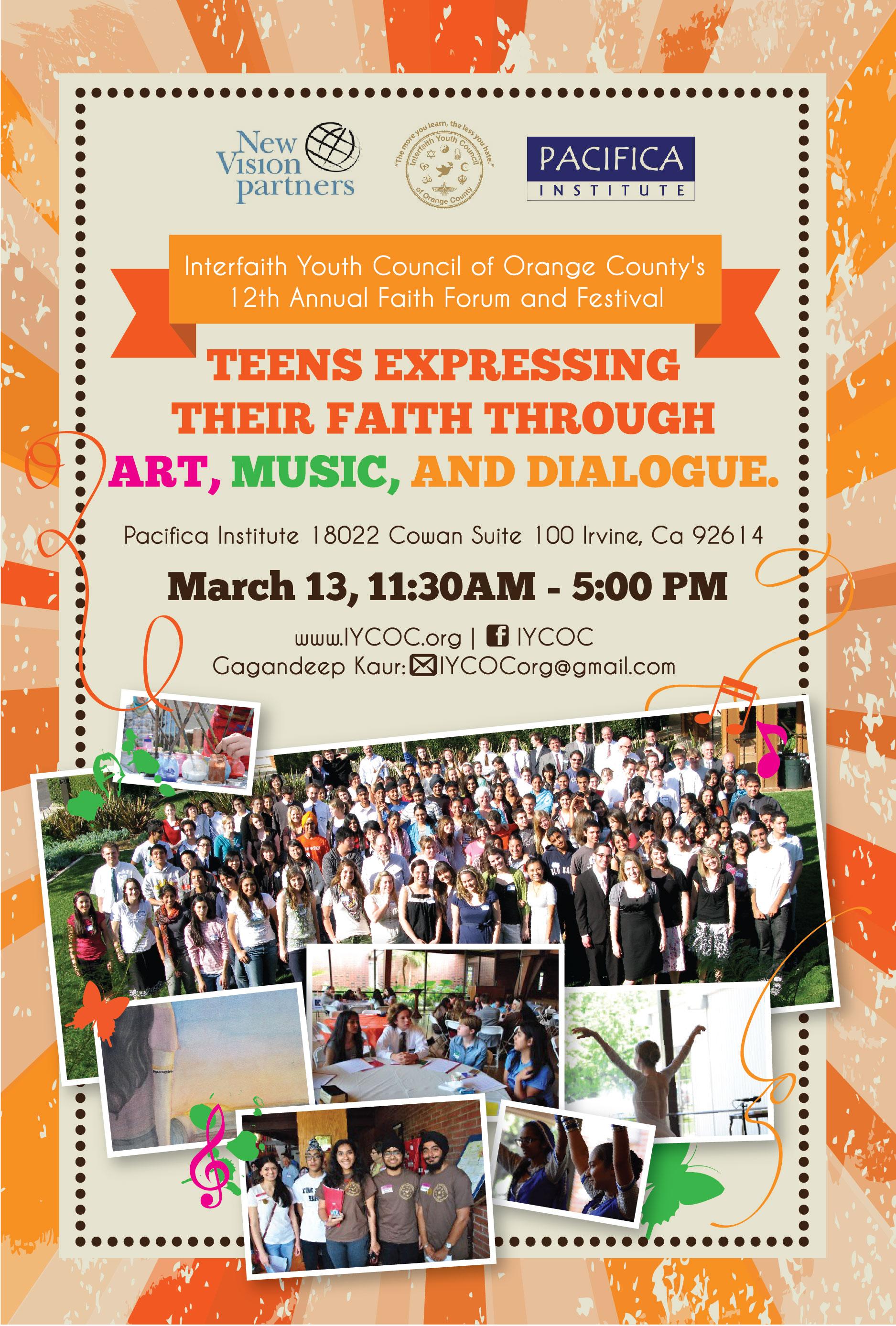 Interfaith Youth Festival in OC