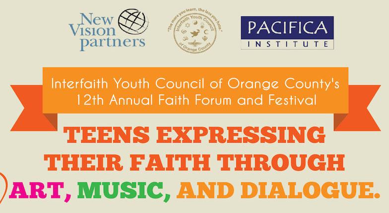 Interfaith Youth Council's Orange County's 12th Annual Faith Forum & Festival, March 13, 2016