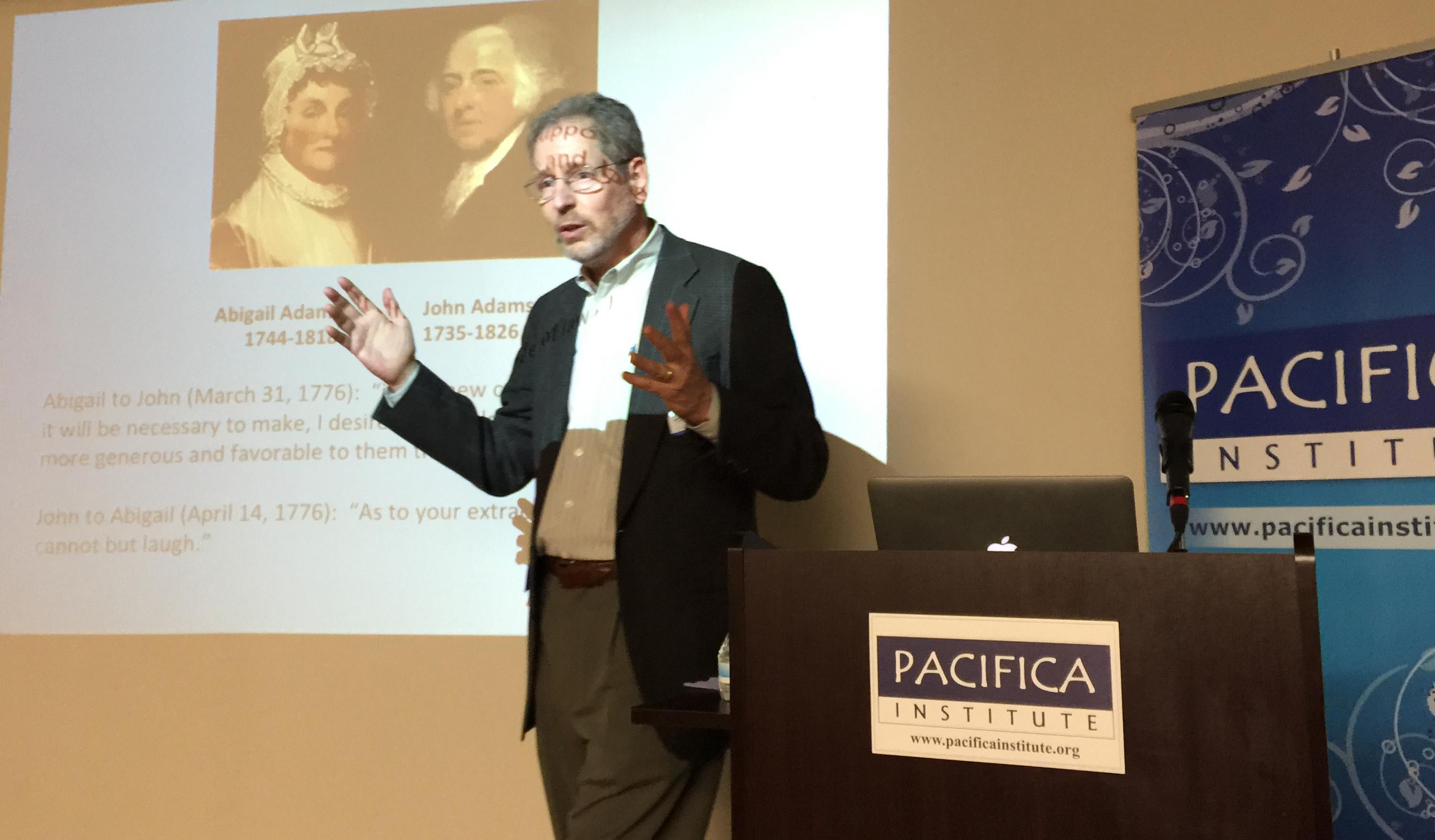 Prof. Talbott speaks at Pacifica Institute Seattle