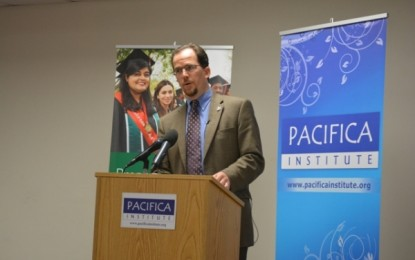 "Dr. Joseph Lumbard gave a lecture on ""Revitalizing the Heart of Islam"" at Pacifica OC"