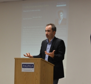 Journalist Mustafa Akyol visited the Pacifica Institute to give a talk about the Arab Spring