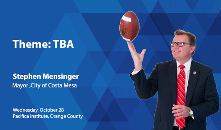 OC Luncheon Forum with Costa Mesa Mayor Stephen Mensinger