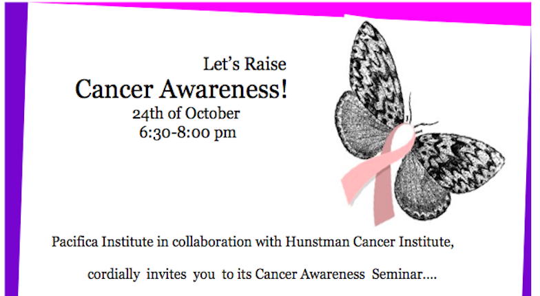 Pacifica Utah And Huntsman Cancer Institute Cordially Invite You To