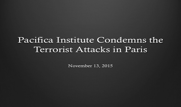 Pacifica Institute Condemns the Terrorist Attacks in Paris