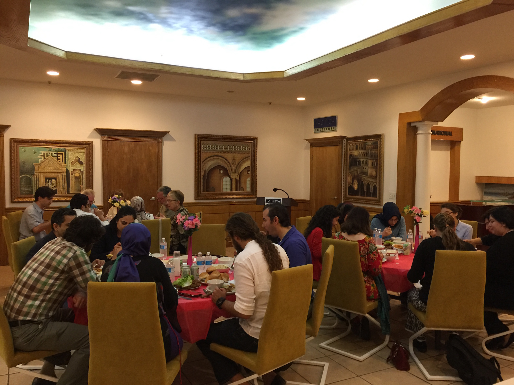 Faculty and Students Came Together for an Iftar Dinner