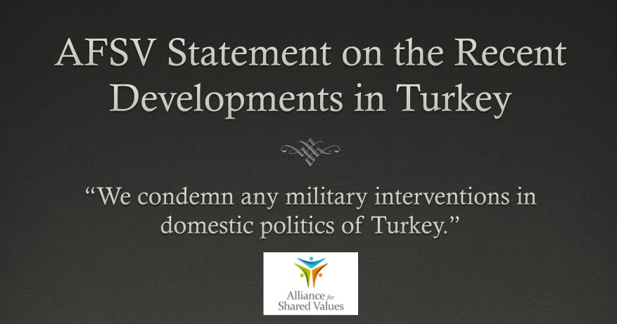 Statements on Recent Military Intervention in Turkey