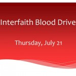 Join Us for an Interfaith Blood Drive