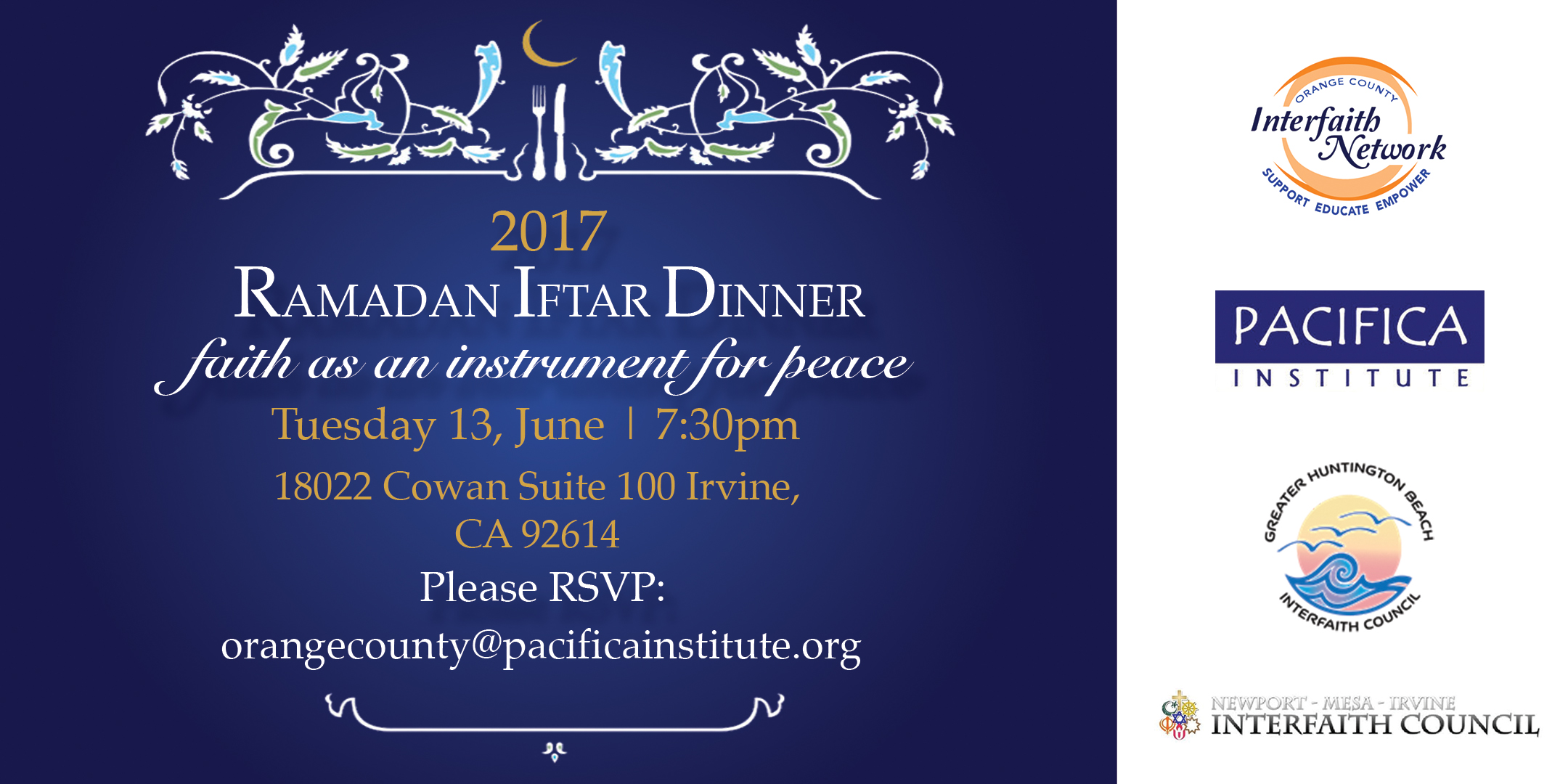 Annual Orange County Interfaith Ramadan Iftar Dinner