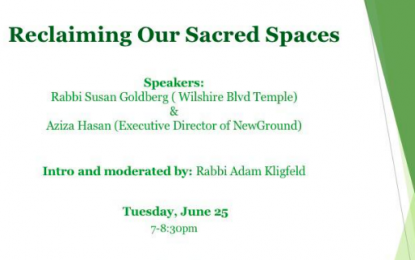 Reclaiming Our Sacred Spaces