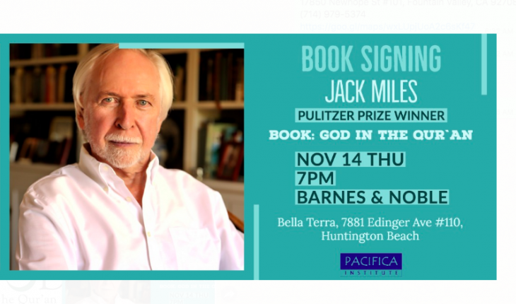 """Book Signing with Pulitzer Winner Jack Miles: """"God in the Quran"""""""