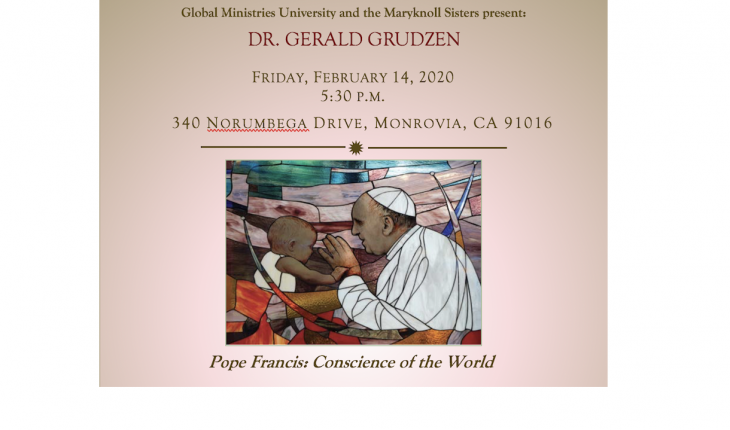 DR. Gerald Grudzen will speak about Pope Francis and Fethullah Gulen