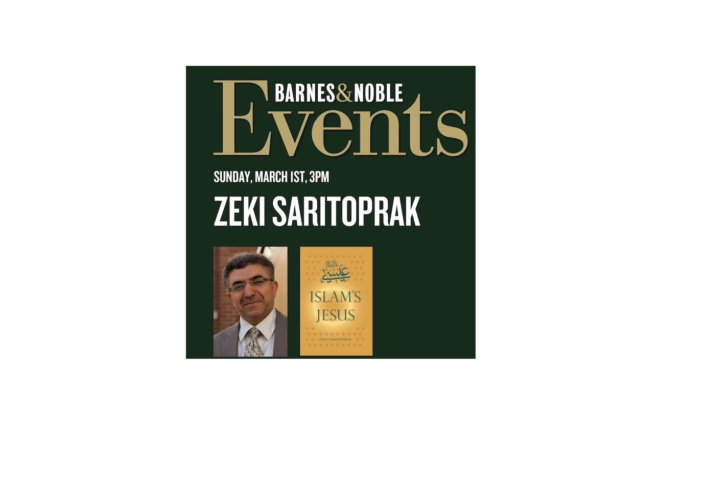 Book-signing and Talk : Islam`s Jesus by Dr. Zeki Saritoprak at Huntington Beach Barnes & Noble