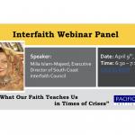 Interfaith Webinar: What Our Faith Teaches Us in Times of Crisis